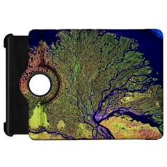 Lena River Delta A Photo Of A Colorful River Delta Taken From A Satellite Kindle Fire HD 7
