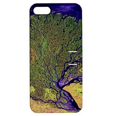 Lena River Delta A Photo Of A Colorful River Delta Taken From A Satellite Apple iPhone 5 Hardshell Case with Stand