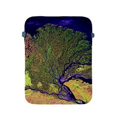 Lena River Delta A Photo Of A Colorful River Delta Taken From A Satellite Apple iPad 2/3/4 Protective Soft Cases