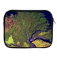 Lena River Delta A Photo Of A Colorful River Delta Taken From A Satellite Apple iPad 2/3/4 Zipper Cases