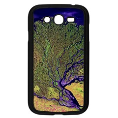 Lena River Delta A Photo Of A Colorful River Delta Taken From A Satellite Samsung Galaxy Grand DUOS I9082 Case (Black)