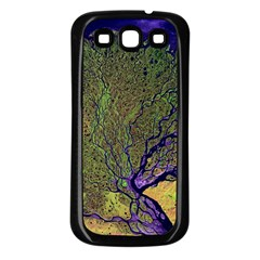 Lena River Delta A Photo Of A Colorful River Delta Taken From A Satellite Samsung Galaxy S3 Back Case (Black)