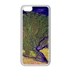 Lena River Delta A Photo Of A Colorful River Delta Taken From A Satellite Apple iPhone 5C Seamless Case (White)