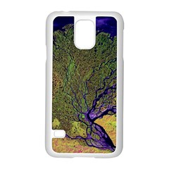 Lena River Delta A Photo Of A Colorful River Delta Taken From A Satellite Samsung Galaxy S5 Case (White)
