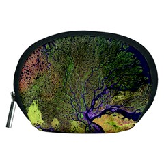 Lena River Delta A Photo Of A Colorful River Delta Taken From A Satellite Accessory Pouches (Medium)