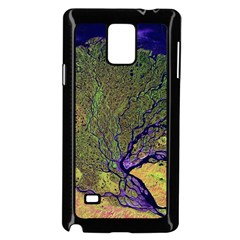Lena River Delta A Photo Of A Colorful River Delta Taken From A Satellite Samsung Galaxy Note 4 Case (Black)