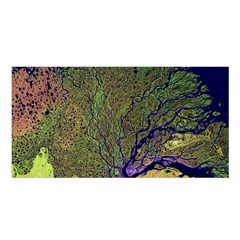 Lena River Delta A Photo Of A Colorful River Delta Taken From A Satellite Satin Shawl