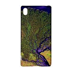 Lena River Delta A Photo Of A Colorful River Delta Taken From A Satellite Sony Xperia Z3+