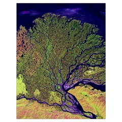 Lena River Delta A Photo Of A Colorful River Delta Taken From A Satellite Drawstring Bag (large)