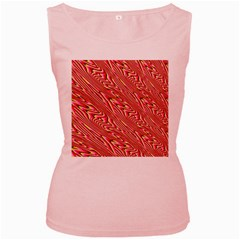 Abstract Neutral Pattern Women s Pink Tank Top