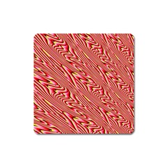 Abstract Neutral Pattern Square Magnet