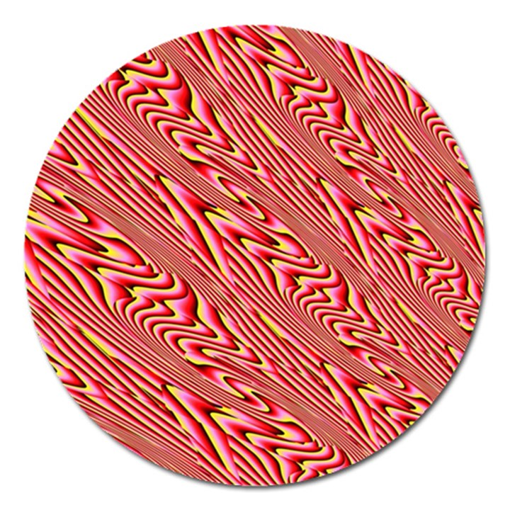 Abstract Neutral Pattern Magnet 5  (Round)