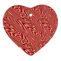 Abstract Neutral Pattern Heart Ornament (two Sides)