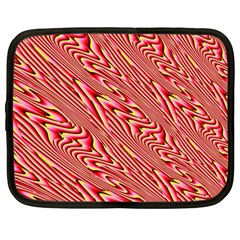 Abstract Neutral Pattern Netbook Case (Large)