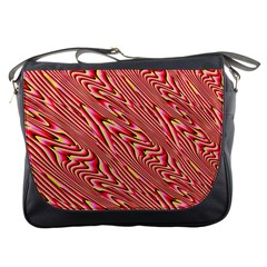 Abstract Neutral Pattern Messenger Bags
