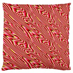 Abstract Neutral Pattern Large Flano Cushion Case (one Side)