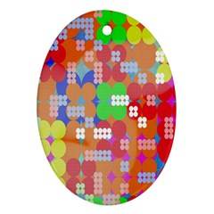 Abstract Polka Dot Pattern Digitally Created Abstract Background Pattern With An Urban Feel Ornament (Oval)