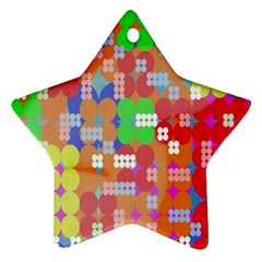 Abstract Polka Dot Pattern Digitally Created Abstract Background Pattern With An Urban Feel Ornament (Star)