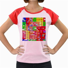 Abstract Polka Dot Pattern Digitally Created Abstract Background Pattern With An Urban Feel Women s Cap Sleeve T-Shirt