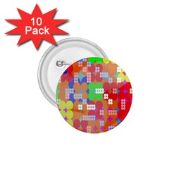Abstract Polka Dot Pattern Digitally Created Abstract Background Pattern With An Urban Feel 1.75  Buttons (10 pack)