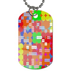 Abstract Polka Dot Pattern Digitally Created Abstract Background Pattern With An Urban Feel Dog Tag (One Side)