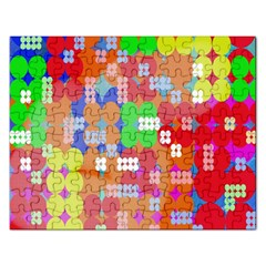 Abstract Polka Dot Pattern Digitally Created Abstract Background Pattern With An Urban Feel Rectangular Jigsaw Puzzl