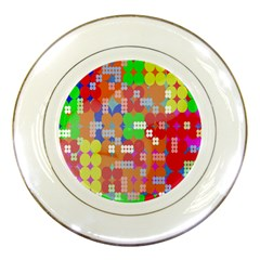 Abstract Polka Dot Pattern Digitally Created Abstract Background Pattern With An Urban Feel Porcelain Plates