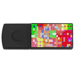 Abstract Polka Dot Pattern Digitally Created Abstract Background Pattern With An Urban Feel Usb Flash Drive Rectangular (4 Gb)