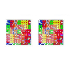 Abstract Polka Dot Pattern Digitally Created Abstract Background Pattern With An Urban Feel Cufflinks (Square)