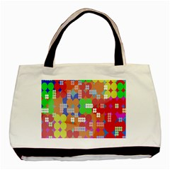 Abstract Polka Dot Pattern Digitally Created Abstract Background Pattern With An Urban Feel Basic Tote Bag