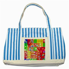 Abstract Polka Dot Pattern Digitally Created Abstract Background Pattern With An Urban Feel Striped Blue Tote Bag