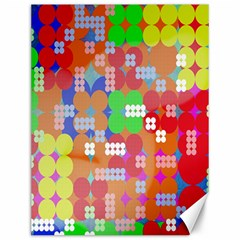 Abstract Polka Dot Pattern Digitally Created Abstract Background Pattern With An Urban Feel Canvas 12  x 16