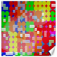 Abstract Polka Dot Pattern Digitally Created Abstract Background Pattern With An Urban Feel Canvas 16  x 16