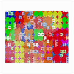 Abstract Polka Dot Pattern Digitally Created Abstract Background Pattern With An Urban Feel Small Glasses Cloth (2-Side)
