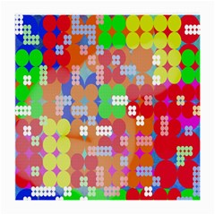 Abstract Polka Dot Pattern Digitally Created Abstract Background Pattern With An Urban Feel Medium Glasses Cloth