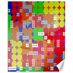 Abstract Polka Dot Pattern Digitally Created Abstract Background Pattern With An Urban Feel Canvas 11  x 14