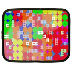 Abstract Polka Dot Pattern Digitally Created Abstract Background Pattern With An Urban Feel Netbook Case (large)