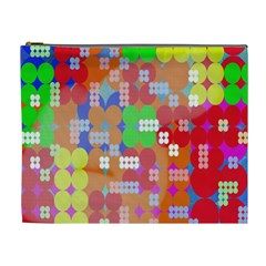 Abstract Polka Dot Pattern Digitally Created Abstract Background Pattern With An Urban Feel Cosmetic Bag (XL)