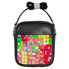 Abstract Polka Dot Pattern Digitally Created Abstract Background Pattern With An Urban Feel Girls Sling Bags