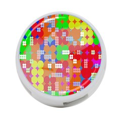 Abstract Polka Dot Pattern Digitally Created Abstract Background Pattern With An Urban Feel 4-Port USB Hub (One Side)