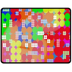 Abstract Polka Dot Pattern Digitally Created Abstract Background Pattern With An Urban Feel Fleece Blanket (Medium)