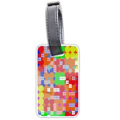 Abstract Polka Dot Pattern Digitally Created Abstract Background Pattern With An Urban Feel Luggage Tags (two Sides)