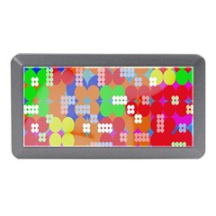 Abstract Polka Dot Pattern Digitally Created Abstract Background Pattern With An Urban Feel Memory Card Reader (Mini)