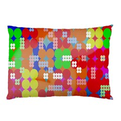 Abstract Polka Dot Pattern Digitally Created Abstract Background Pattern With An Urban Feel Pillow Case (Two Sides)