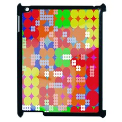 Abstract Polka Dot Pattern Digitally Created Abstract Background Pattern With An Urban Feel Apple iPad 2 Case (Black)
