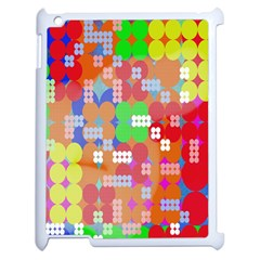 Abstract Polka Dot Pattern Digitally Created Abstract Background Pattern With An Urban Feel Apple Ipad 2 Case (white)