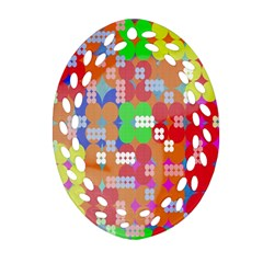 Abstract Polka Dot Pattern Digitally Created Abstract Background Pattern With An Urban Feel Ornament (Oval Filigree)