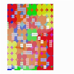 Abstract Polka Dot Pattern Digitally Created Abstract Background Pattern With An Urban Feel Small Garden Flag (Two Sides)