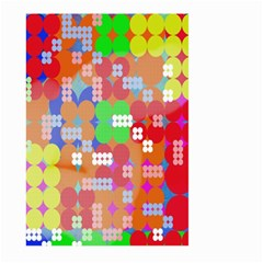Abstract Polka Dot Pattern Digitally Created Abstract Background Pattern With An Urban Feel Large Garden Flag (Two Sides)