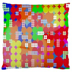 Abstract Polka Dot Pattern Digitally Created Abstract Background Pattern With An Urban Feel Large Cushion Case (two Sides)